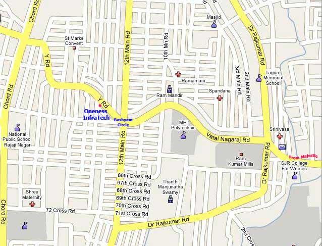 Rajaji Nagar Bangalore Map Blog